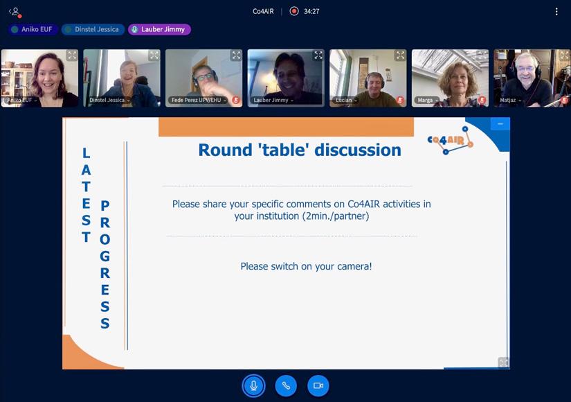 Meeting #5: Co4AIR consortium met online on June, 2020!